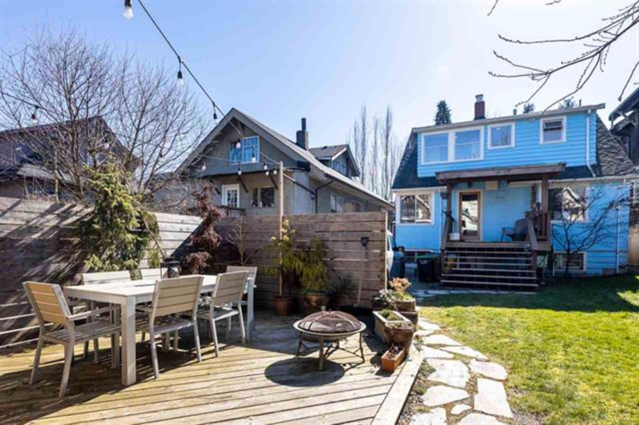 backyard at  1749 Grant Street, Grandview Woodland, Vancouver East