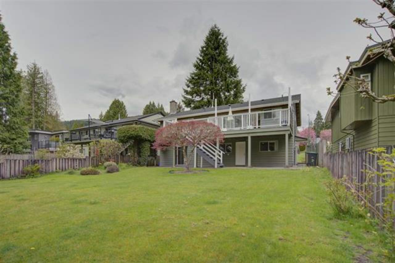 backyard at 1373 Wellington Drive, Lynn Valley, North Vancouver