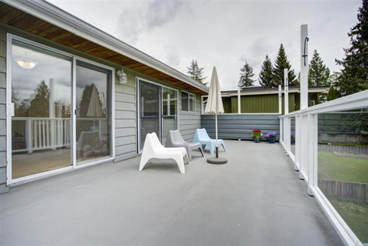 south-facing-patio at 1373 Wellington Drive, Lynn Valley, North Vancouver