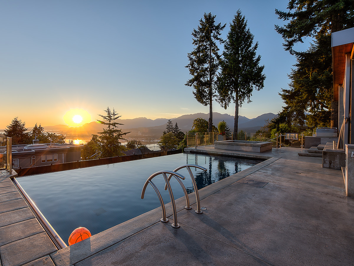 1-main-sunset-pool at 389 N Glynde Avenue, Capitol Hill BN, Burnaby North