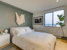 Bedroom-hot water radiant heat at 1203 - 701 W Victoria Park, Central Lonsdale, North Vancouver