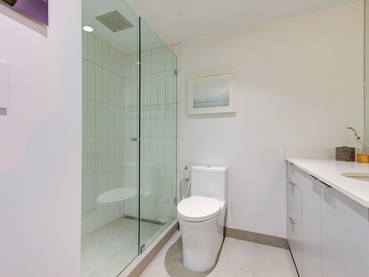 New bathroom, custom cabinets at 1203 - 701 W Victoria Park, Central Lonsdale, North Vancouver