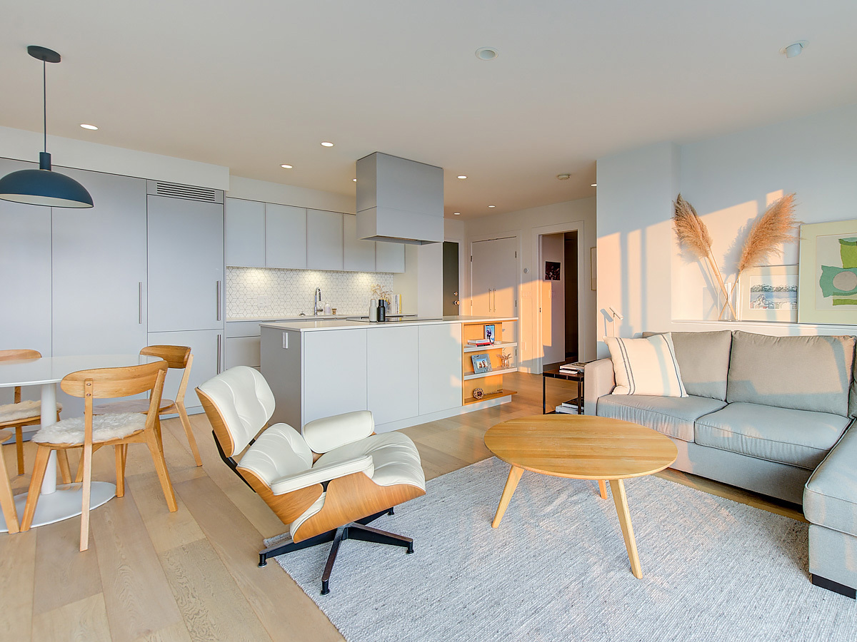 Open floor plan.   at 1203 - 701 W Victoria Park, Central Lonsdale, North Vancouver