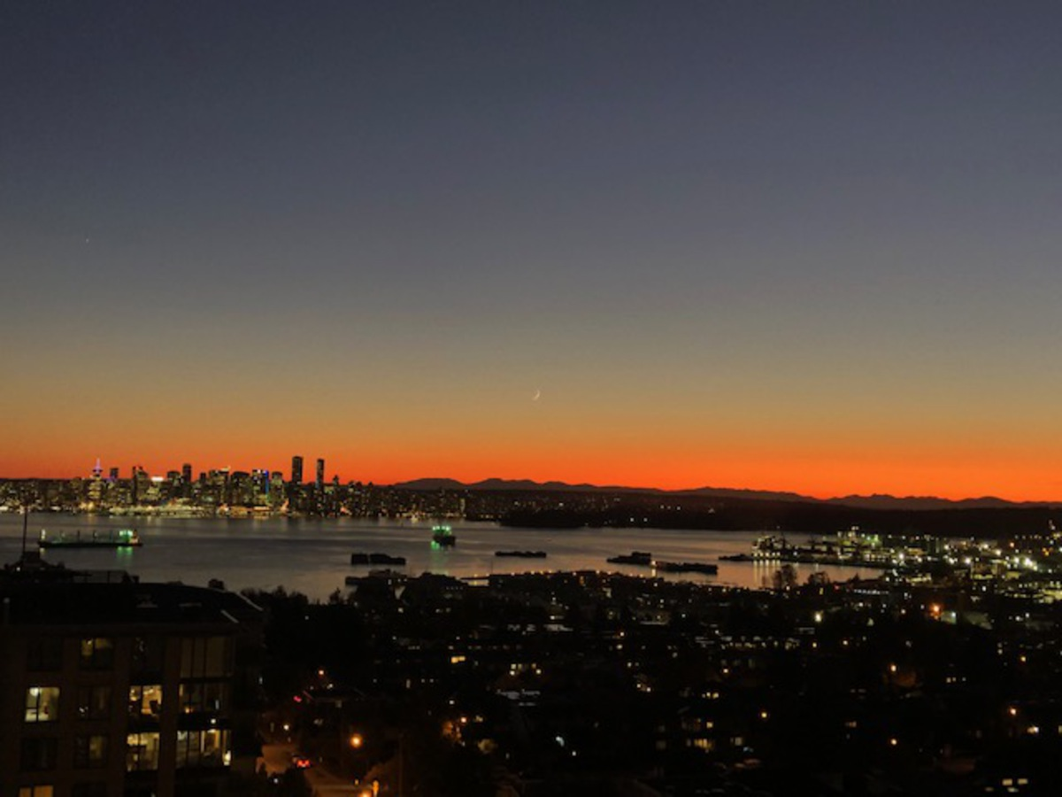 Endless sunsets at 1203 - 701 W Victoria Park, Central Lonsdale, North Vancouver