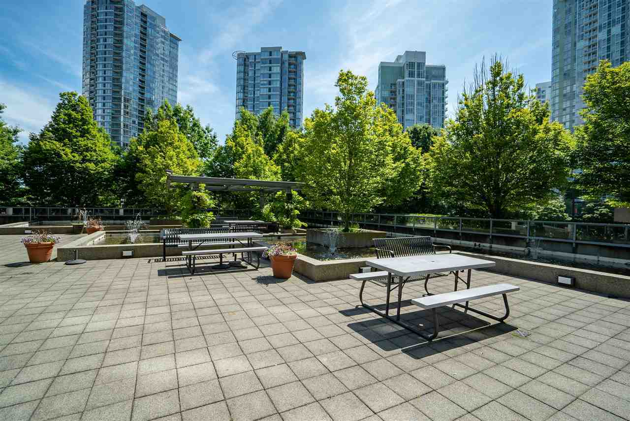 111-courtyard-off-pool at 3201 - 1008 Cambie Street, Yaletown, Vancouver West