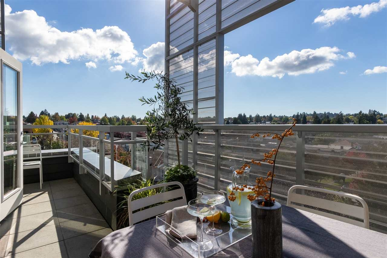 Sunny private patio on the quiet side of the building at 306 - 683 E. 27th Avenue, Fraser VE, Vancouver East