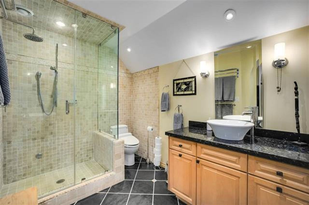 Updated bathrooms at 1229 Caledonia Avenue, Deep Cove, North Vancouver