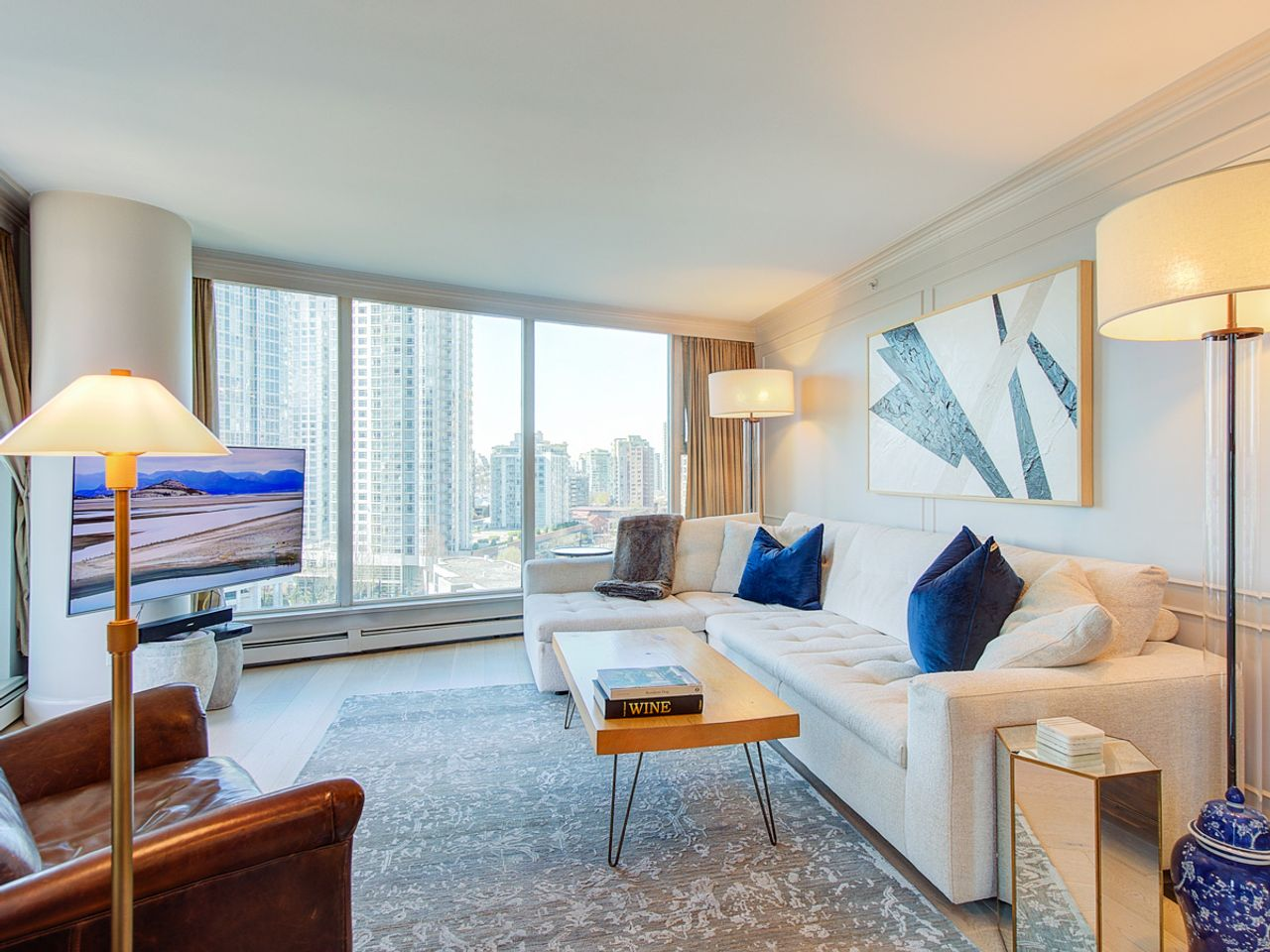 8-living-room at 1506 - 1008 Cambie Street, Yaletown, Vancouver West