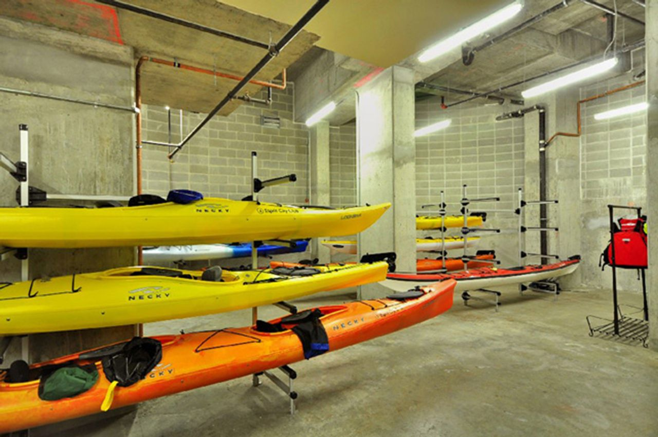 kayaks to be used by strata residents at 2006 - 33 Smithe Street, Yaletown, Vancouver West
