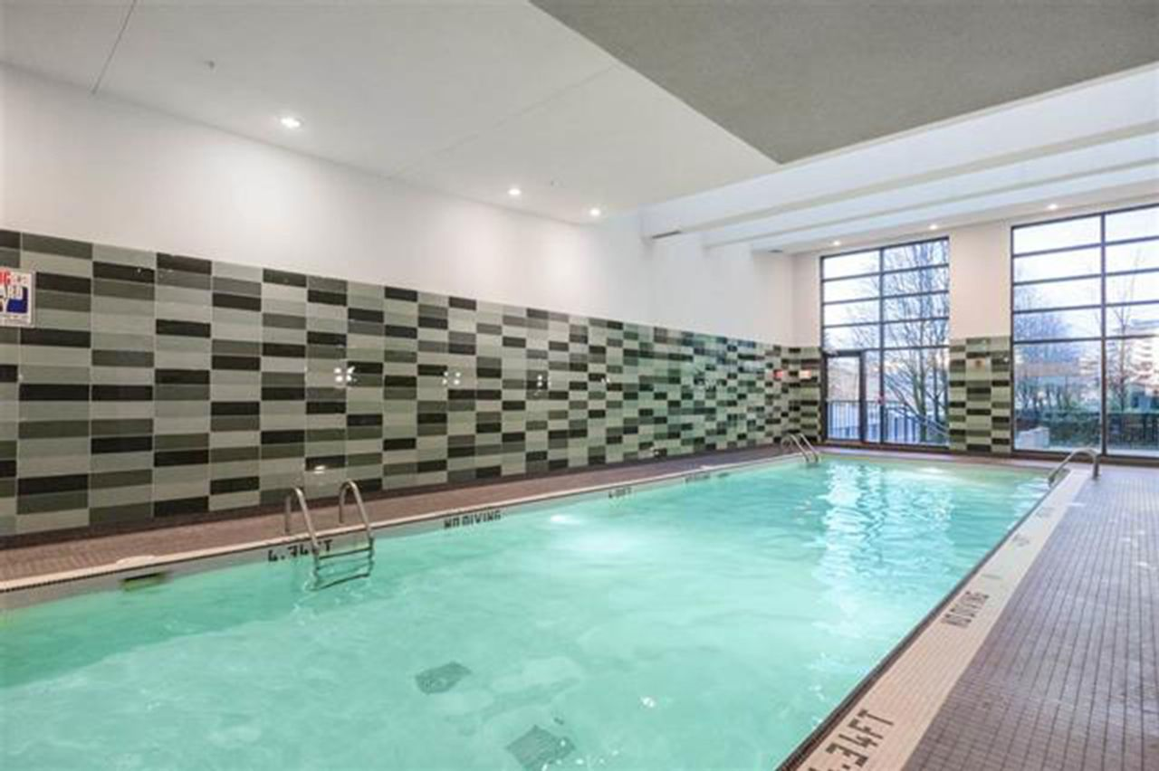 Indoor lap pool, hot tub and steam room at 2006 - 33 Smithe Street, Yaletown, Vancouver West