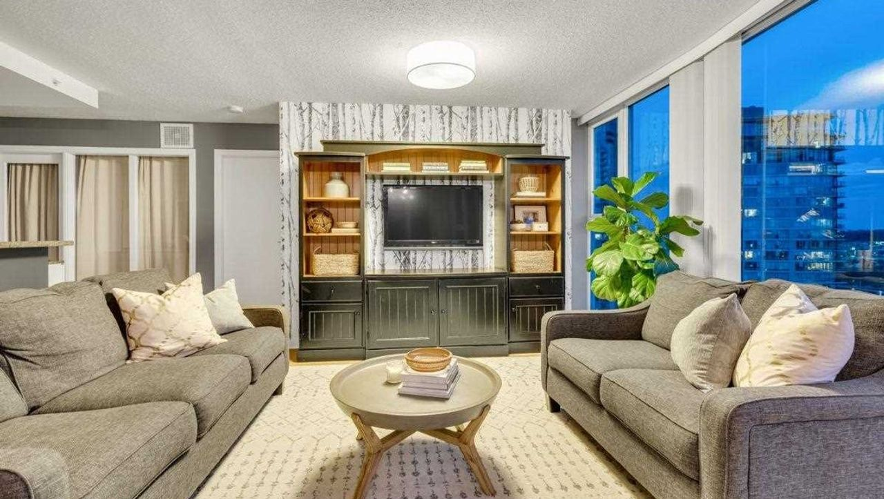 Living Room at 2603 - 583 Beach Crescent, Yaletown, Vancouver West