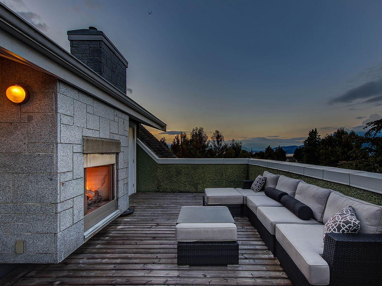 deck-evening at 6002 Chancellor Boulevard, University VW, Vancouver West