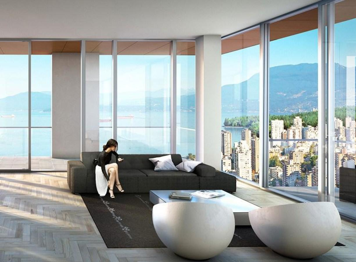Living-Room at 803 - 1480 Howe Street, Downtown VW, Vancouver West