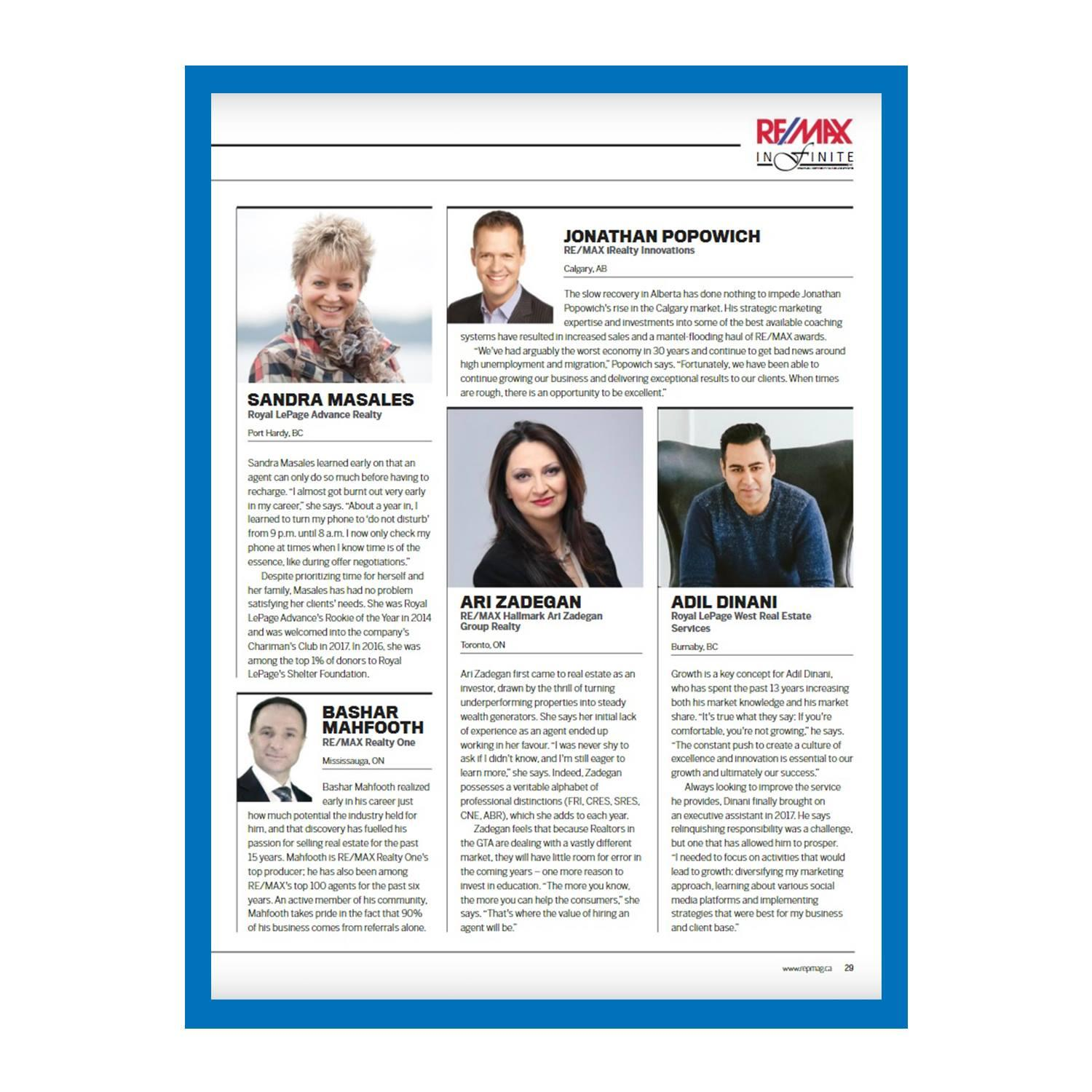 REP Magazine Names Adil One Of The Country's Top 200 Agents, Issue 4.01.512.95