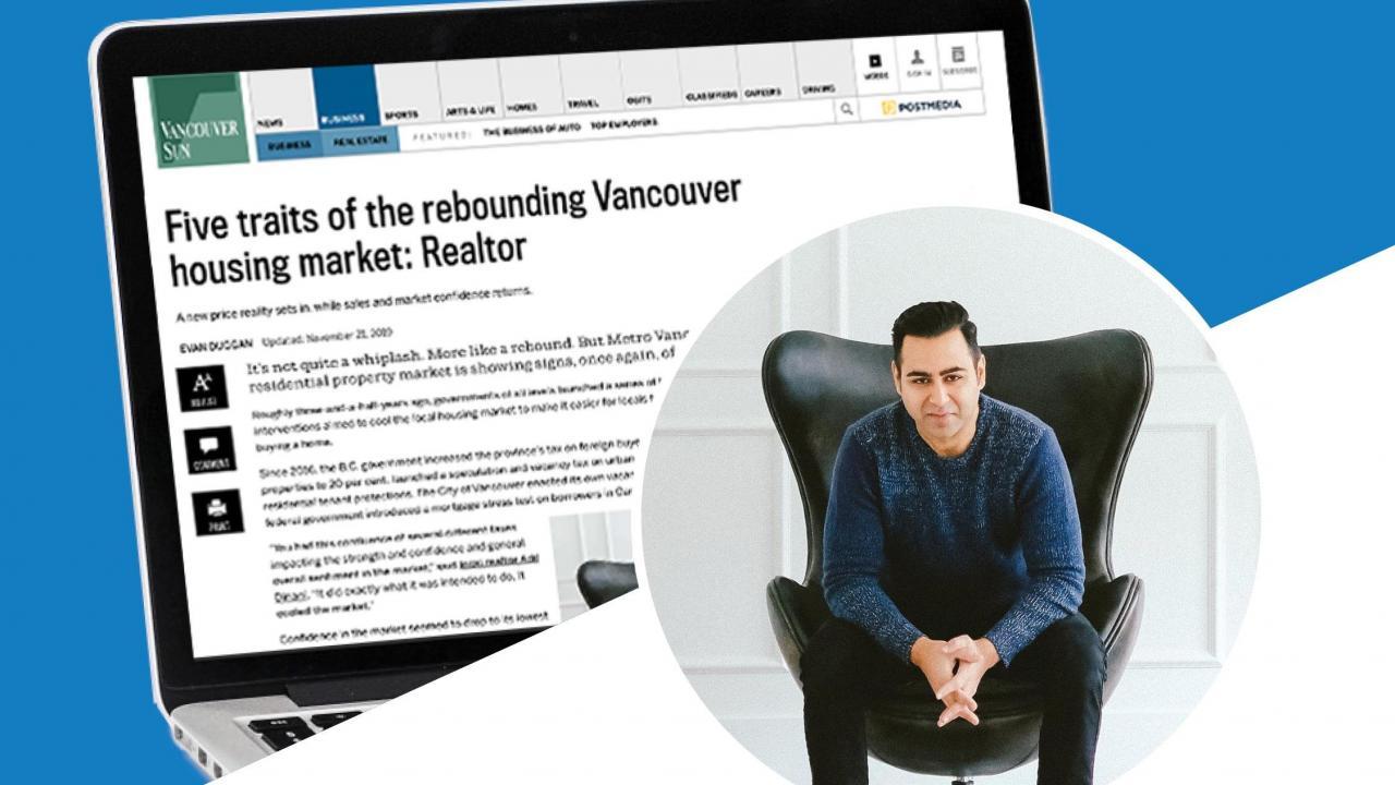 Vancouver Sun: Five Traits of the Rebounding Vancouver Housing Market November 21, 2019