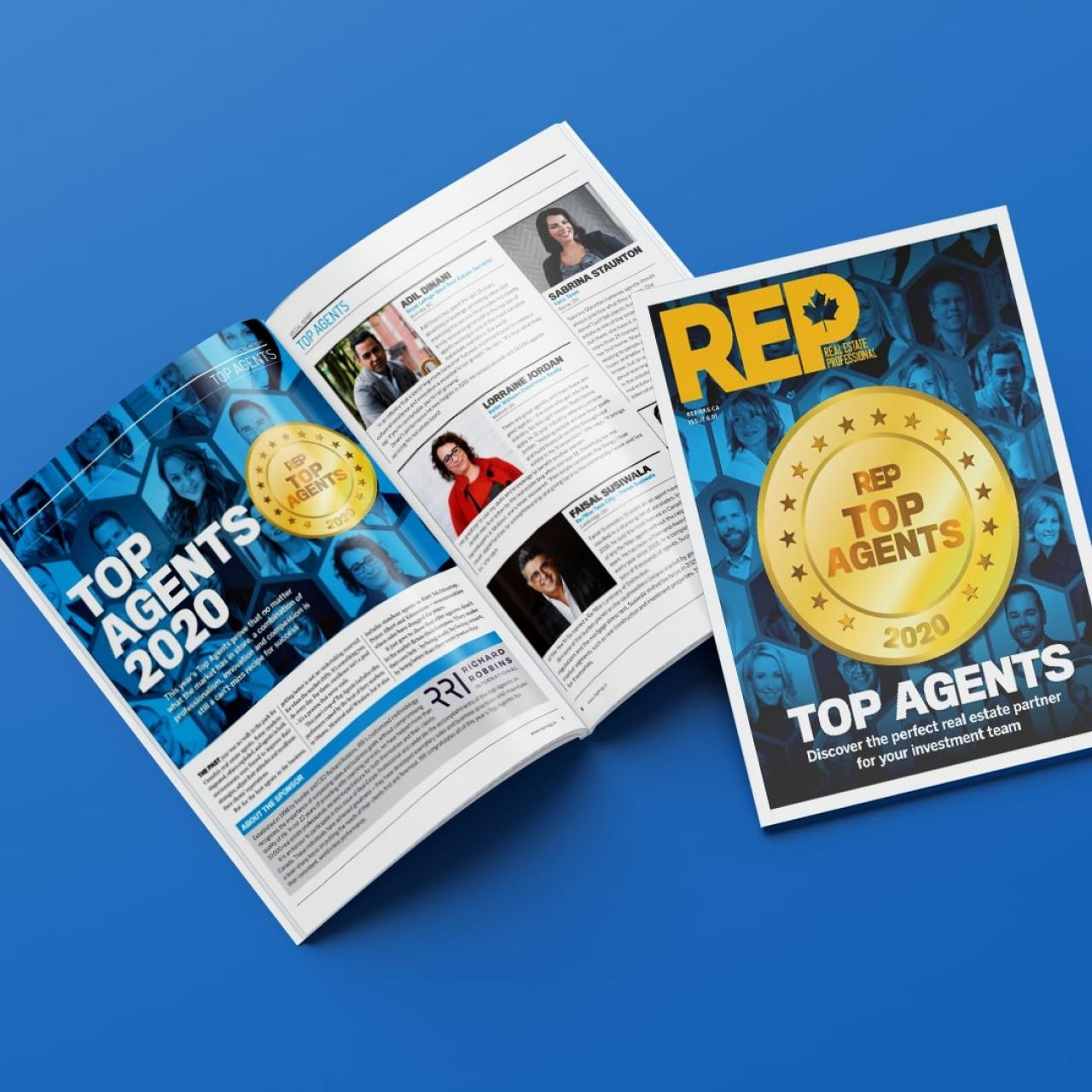 REP Magazine: Adil is featured as one of the top agents in the country, April 5, 2020