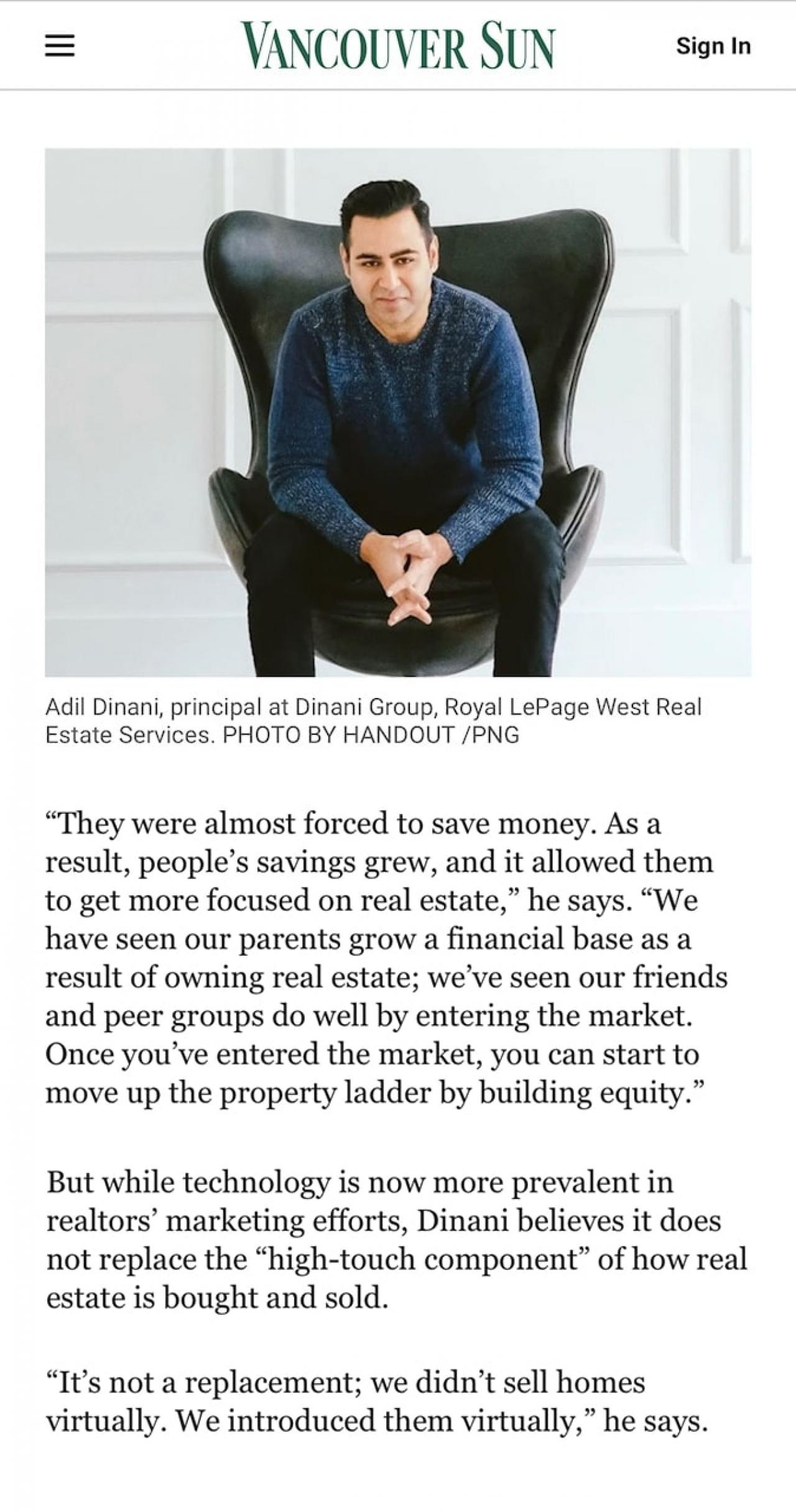 Vancouver Sun: BC Realtors look back at a year like no other, March 12, 2021