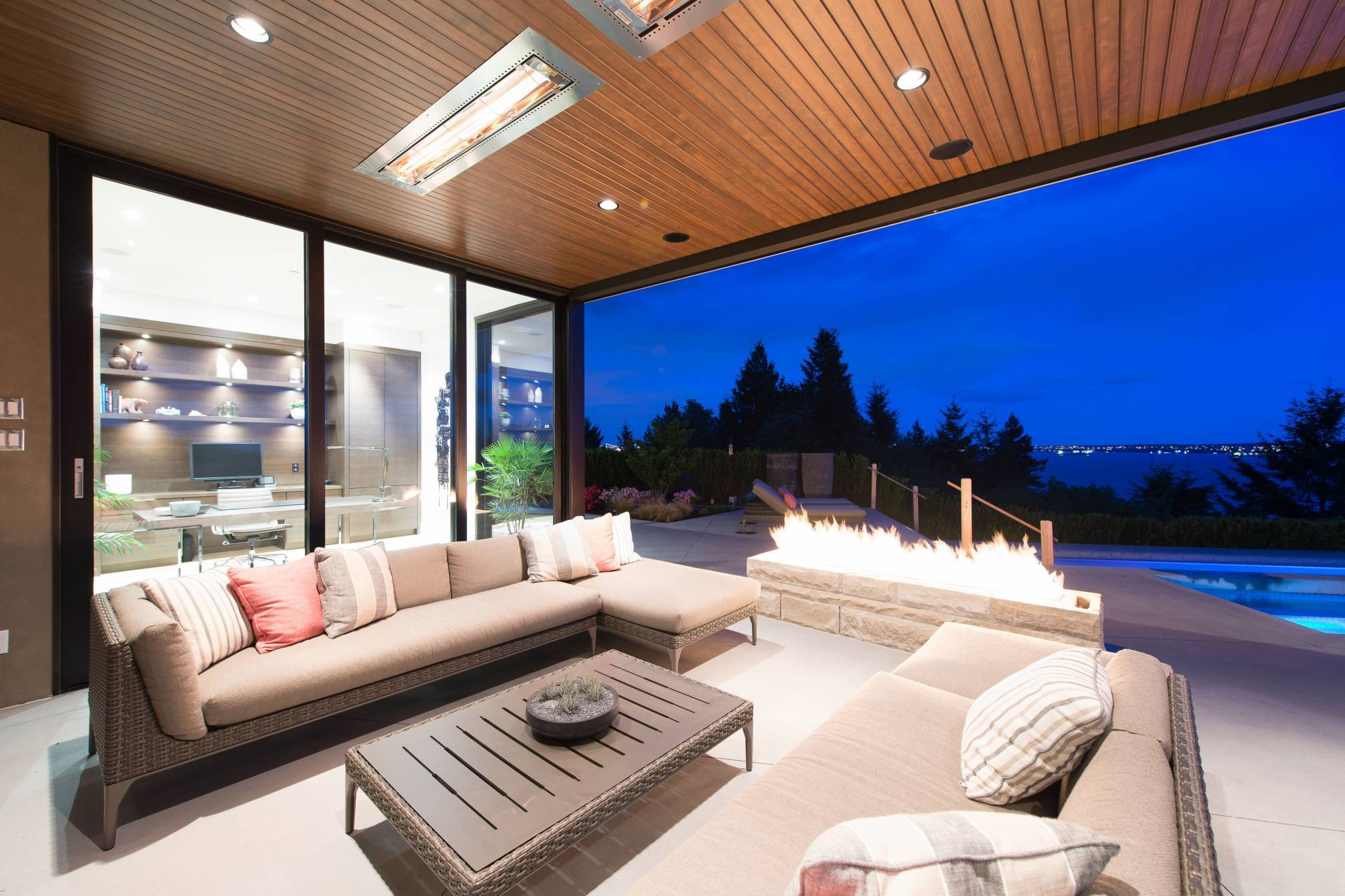 Outdoor Lounge Area at 4112 Burkehill Road, Bayridge, West Vancouver