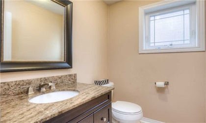 Powder Room at 5799 Tayside Crescent, Central Erin Mills, Mississauga