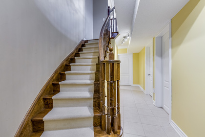Basement Staircase - 2395 Tesla Crescent, Oakville - Elite3 & Team at 2395 Tesla Crescent, Iroquois Ridge North, Oakville
