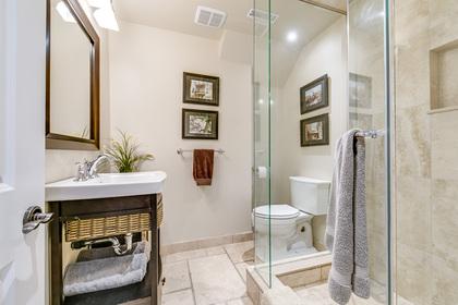 Basement Bathroom - 1195 Half Moon Lane, Oakville at 1195 Half Moon Lane, Iroquois Ridge South, Oakville