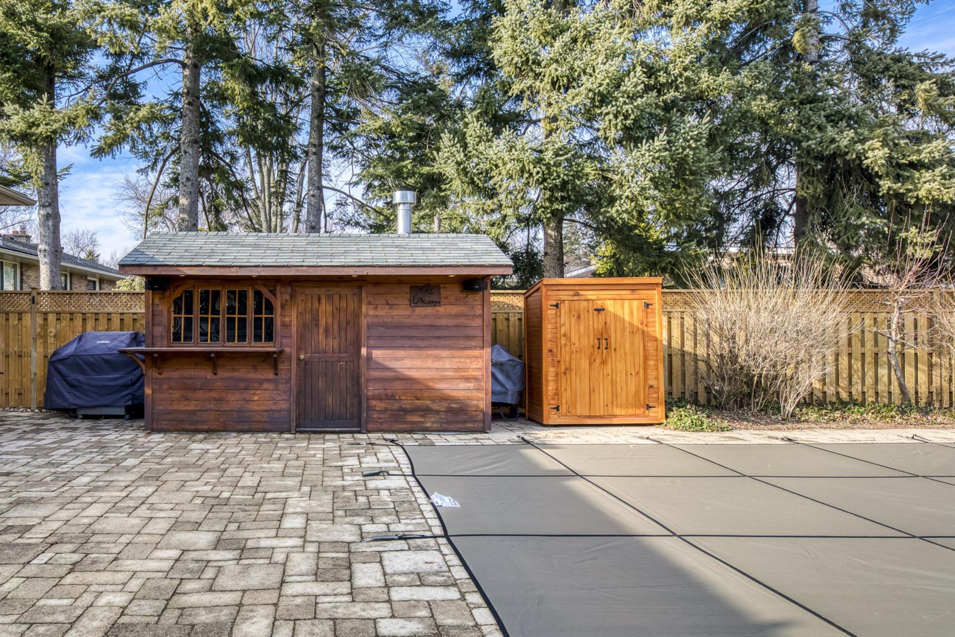 Backyard - 1195 Half Moon Lane, Oakville at 1195 Half Moon Lane, Iroquois Ridge South, Oakville