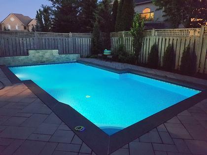 Night Pool - 2473 Tesla Cres, Oakville - Elite3 & Team at 2473 Tesla Crescent, Iroquois Ridge North, Oakville