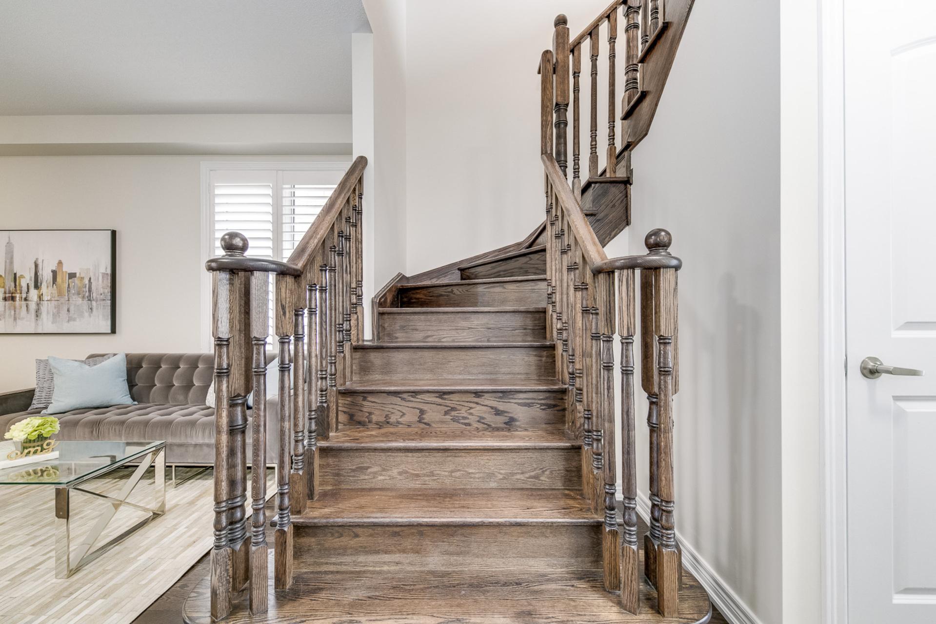 Stairs - 31 Beacon Point St,  Markham - Elite3 & Team at 31 Beacon Point Street, Wismer, Markham