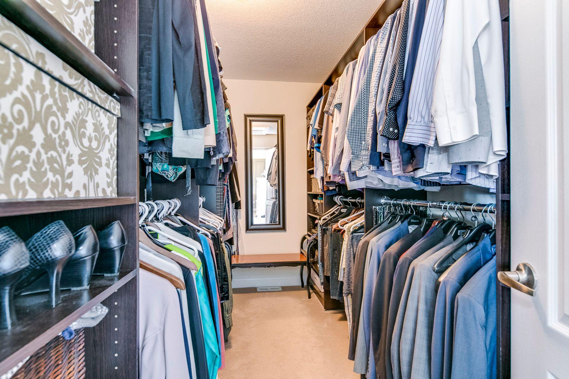 Master Walk-In Closet - 2419 Sylvia Dr, Oakville - Elite3 & Team at 2419 Sylvia Drive, Iroquois Ridge North, Oakville