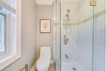 Primary Bathroom- 308 Morrison Rd.- Elite3 & Team at 308 Morrison Road, Eastlake, Oakville