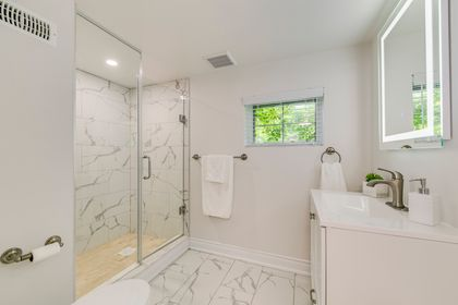 Basement Bathroom- 308 Morrison Rd.- Elite3 & Team at 308 Morrison Road, Eastlake, Oakville