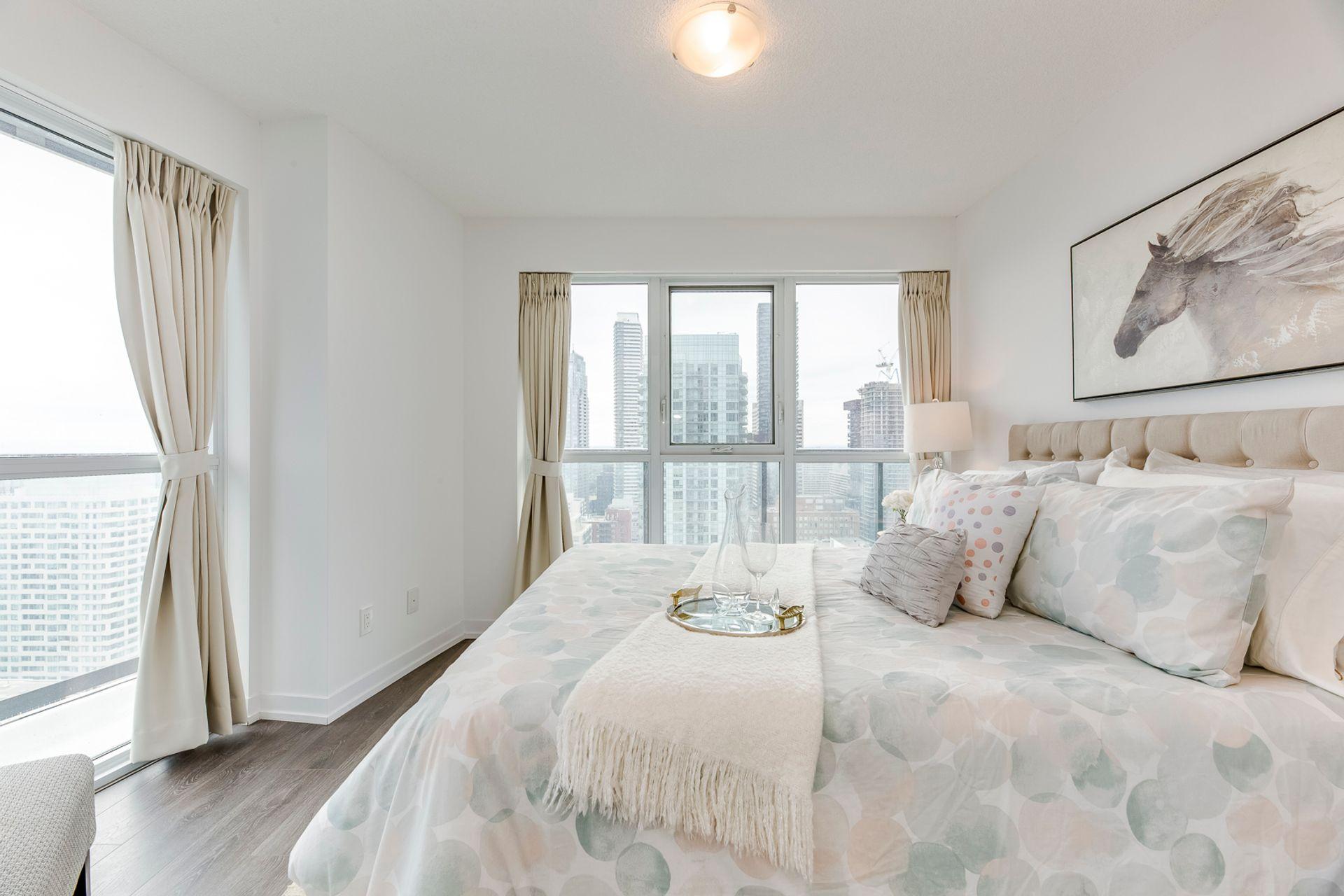 Primary Bedroom- #3108-125 Redpath Ave. Toronto- Elite3 & Team at 3108 - 125 Redpath Avenue, Mount Pleasant East, Toronto