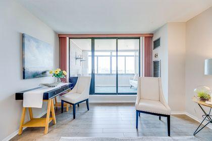 Living Room- #812- 18 Knightsbridge Rd. Brampton- Elite3 & Team at 812 - 18 Knightsbridge Road, Queen Street Corridor, Brampton