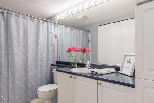 bathroom at 411 - 9979 140th Street, Surrey