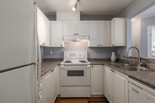 kitchen at 411 - 9979 140th Street, Surrey
