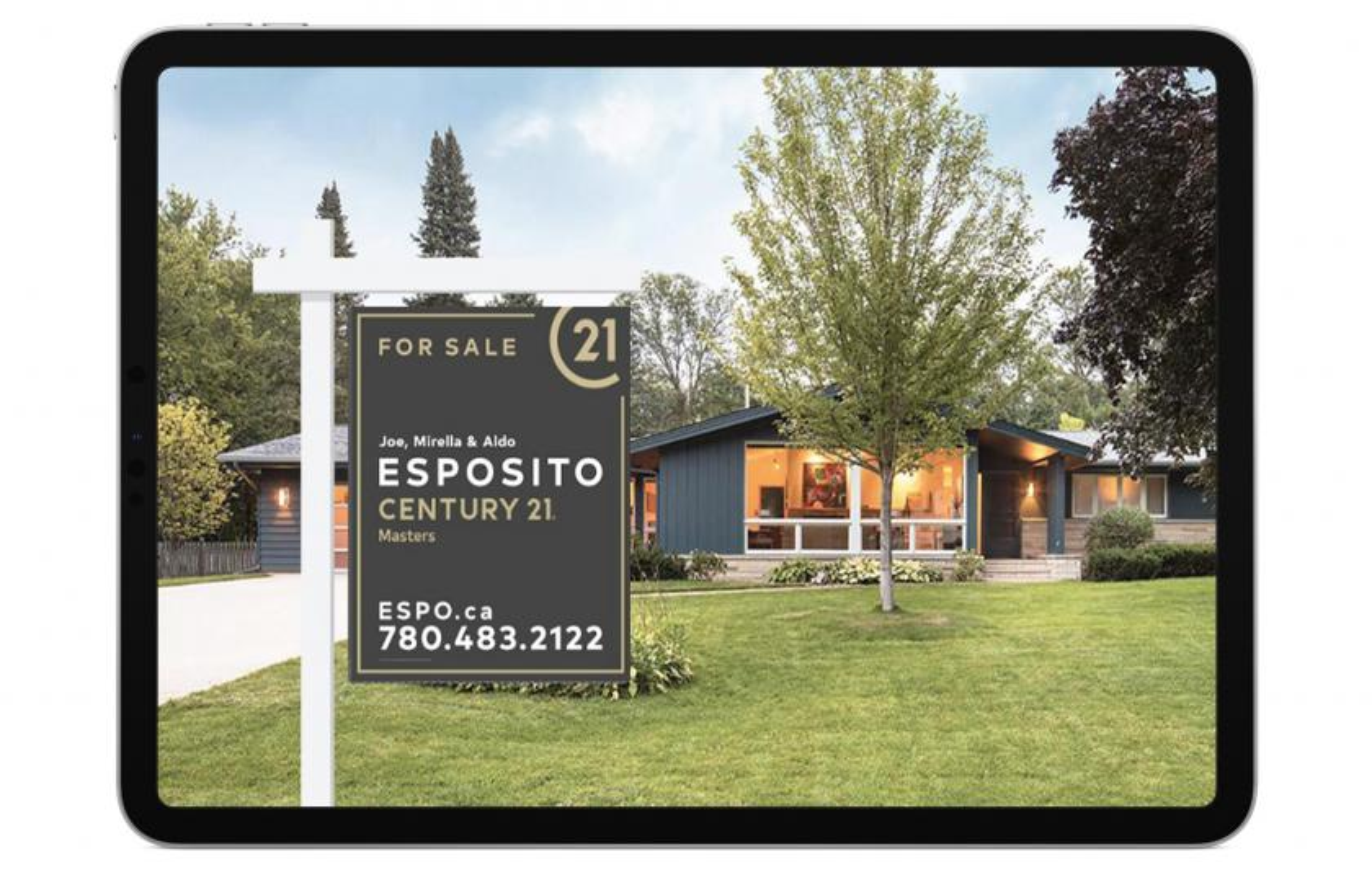 Esposito real estate open house sign