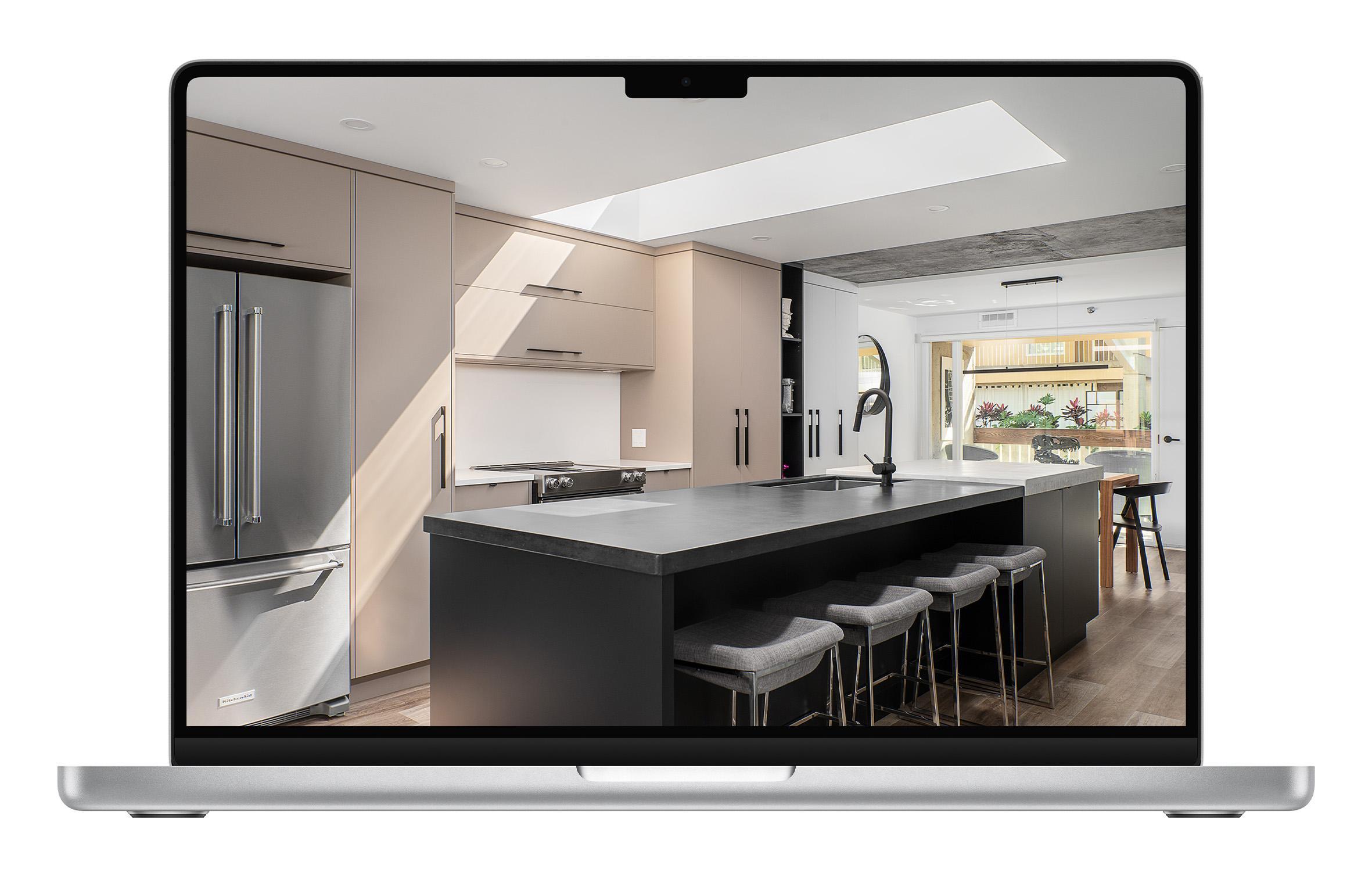 Three photos of home interior