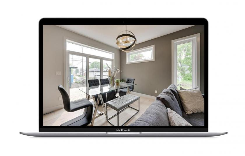 Stylish living room of a real estate for sale
