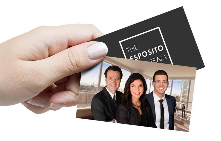 Business cards of The Esposito Team
