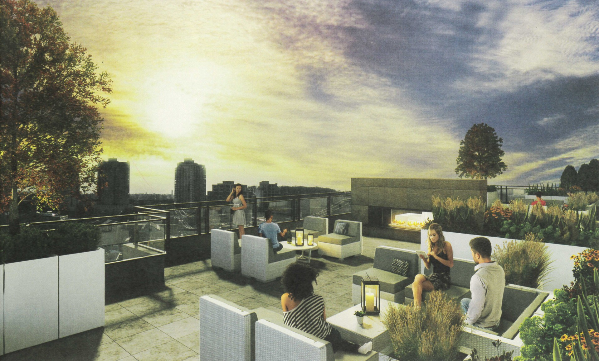 rooftop at 504 - 1012 Auckland Street, Uptown NW, New Westminster