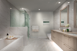 bathroom-light-scheme at 407 - 707 E 3rd Street, Queensbury, North Vancouver