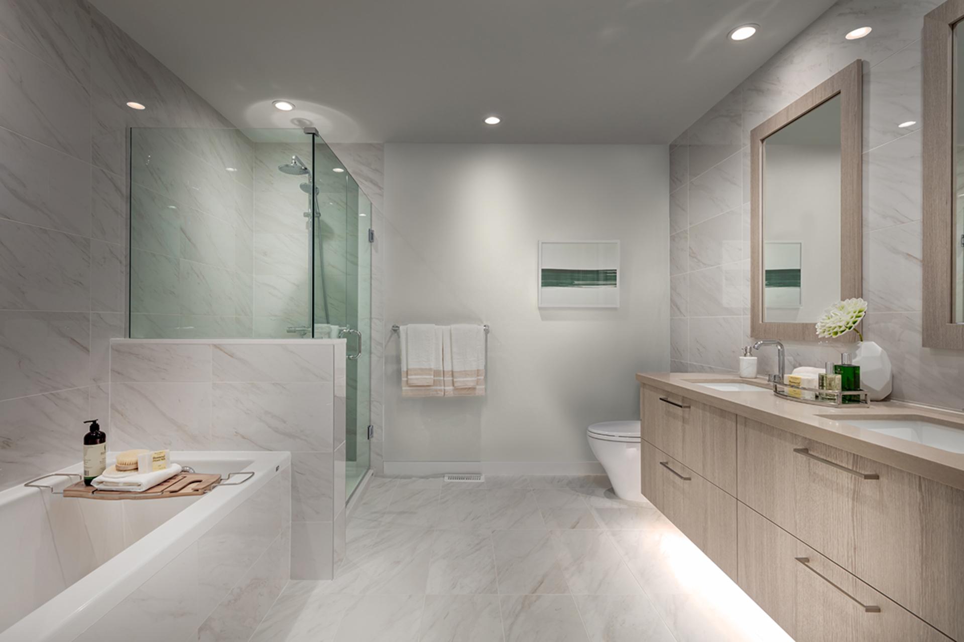 bathroom-light-scheme at 407 - 707 E 3rd Street, Queensbury, North Vancouver