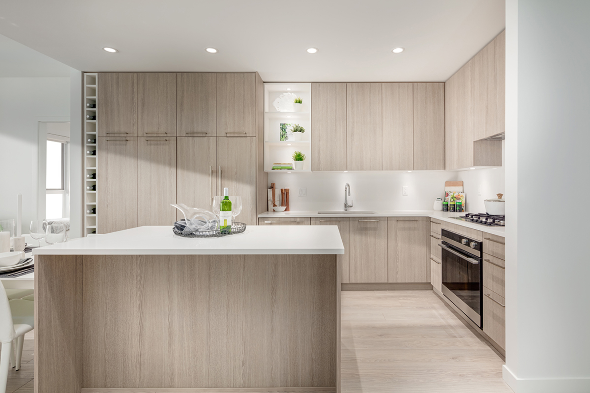 kitchen-2-light-scheme at 407 - 707 E 3rd Street, Queensbury, North Vancouver