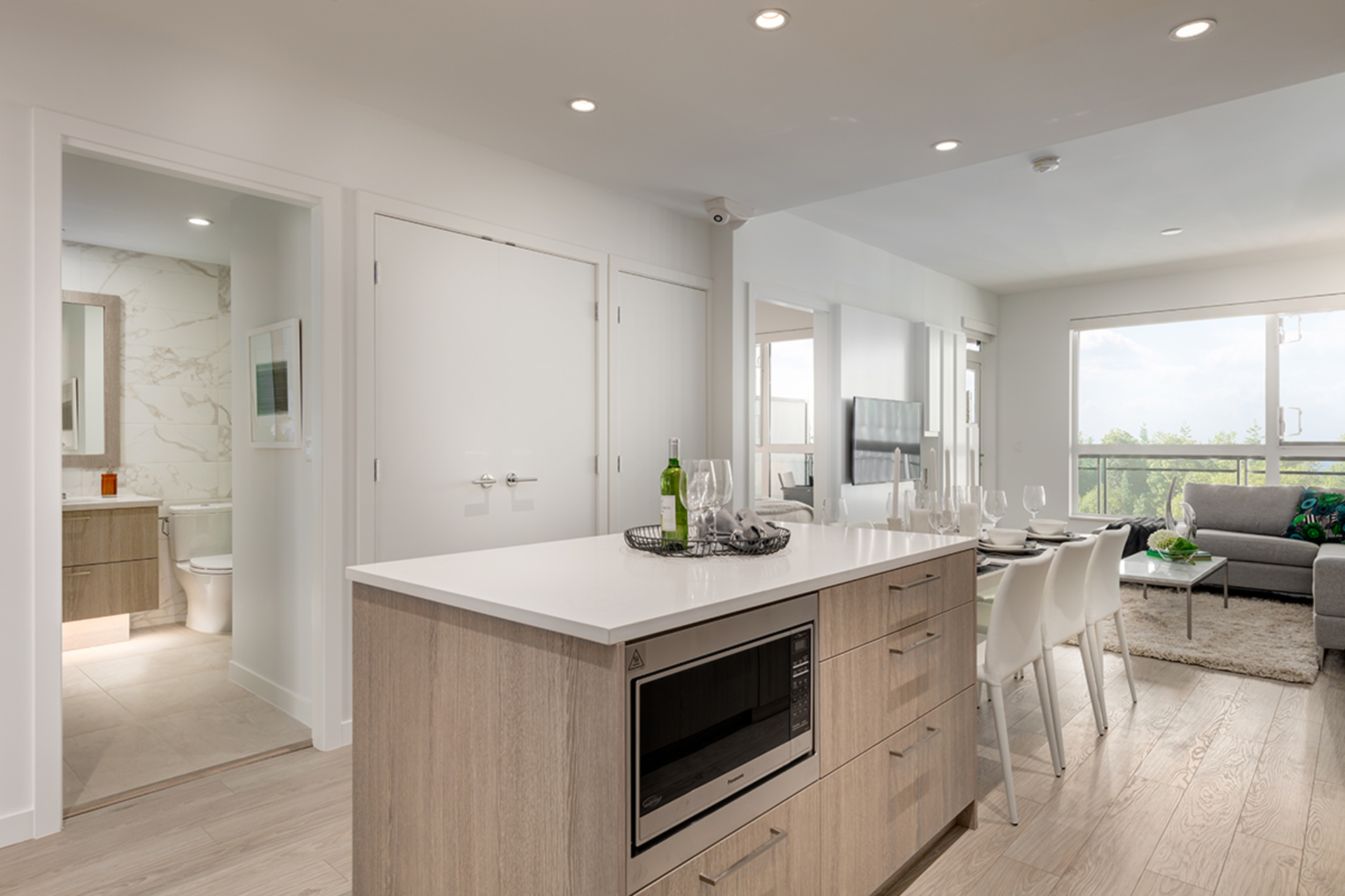kitchen-3-light-scheme at 407 - 707 E 3rd Street, Queensbury, North Vancouver