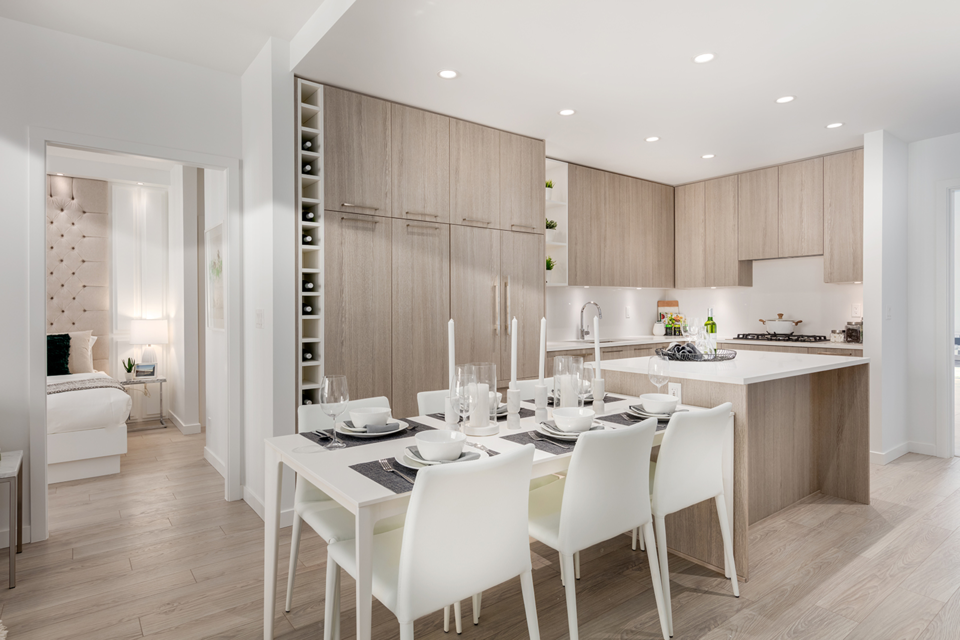 kitchen-light-scheme at 407 - 707 E 3rd Street, Queensbury, North Vancouver