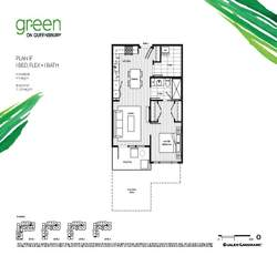 green-on-queensbury-307-plan-1f at 307 - 707 E 3rd Street, Queensbury, North Vancouver