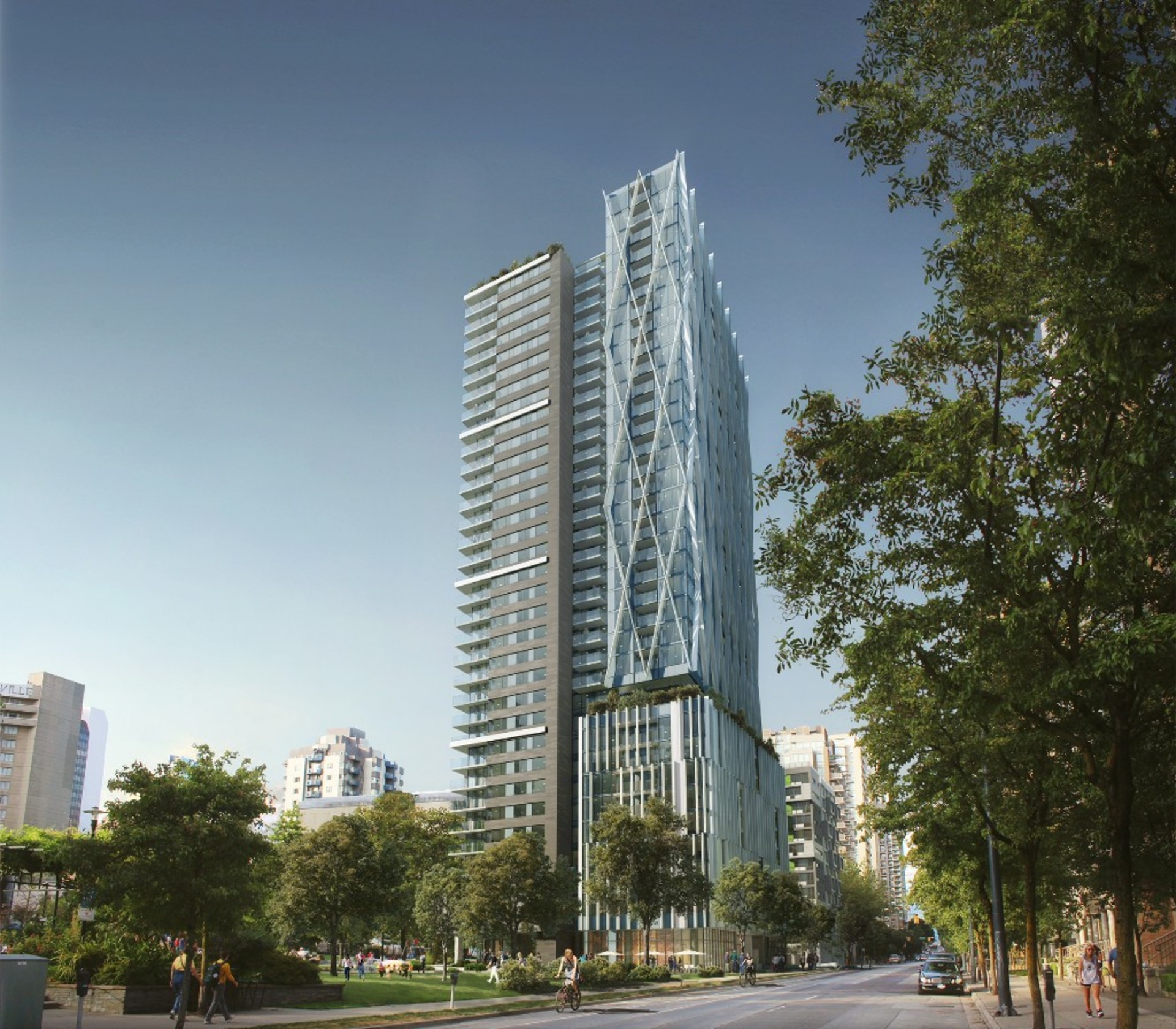 8x-on-the-park-6 at 2604 - 1111 Richards Street, Yaletown, Vancouver West