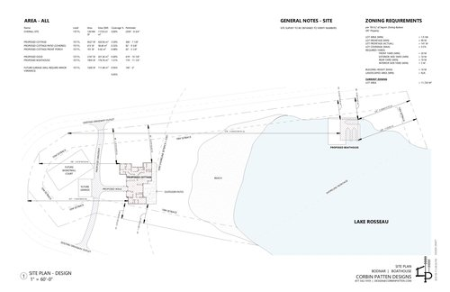 site-plan at 143 Highway 632 (peninsula Road),