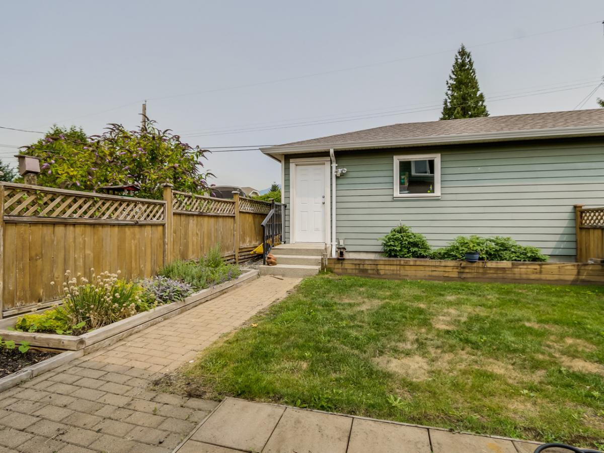 Back yard and Garage at 240 East 21st Street, Central Lonsdale, North Vancouver