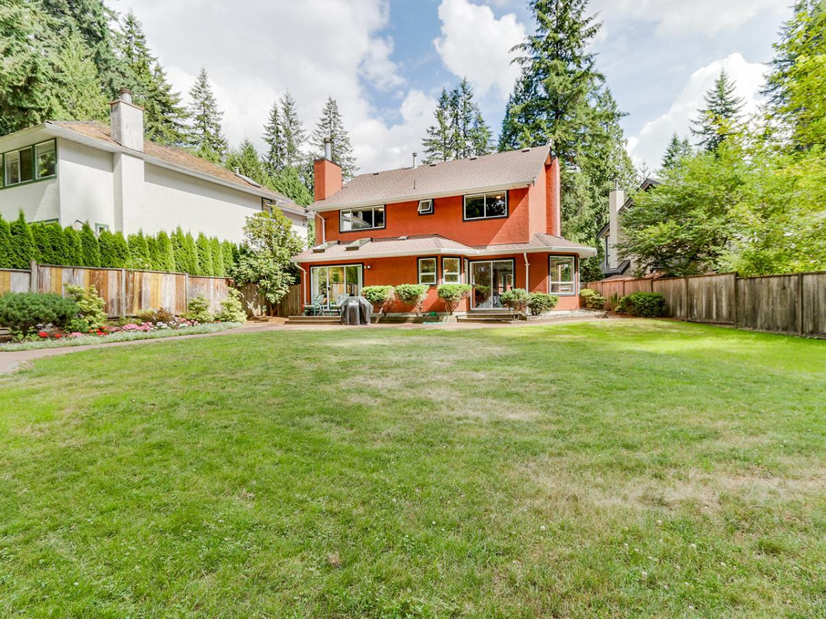 Backyard at 4575 Capilano Road, Canyon Heights NV, North Vancouver
